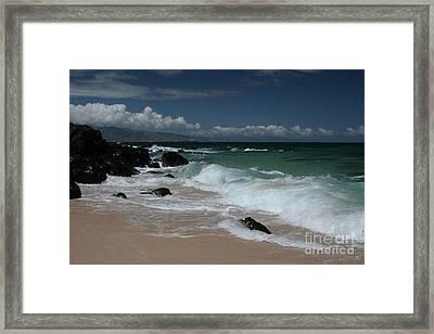 i miha kai i ka aina Hookipa Beach Maui North Shore Hawaii Framed Print by Sharon Mau
