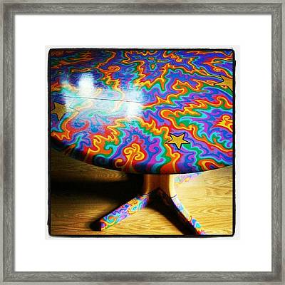 I Painted This Table With #sharpie Oil Framed Print
