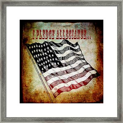 I Pledge Allegiance Framed Print by Angelina Vick