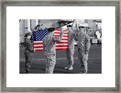I Promise To Defend Framed Print by Elizabeth  Doran