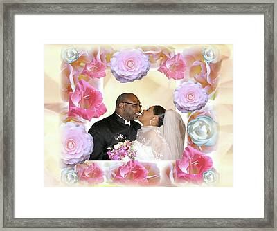 I Pronounce You Husband And Wife Framed Print by Terry Wallace