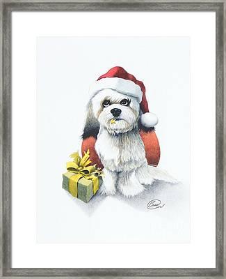 I Rove Christmas Framed Print by Albert Casson