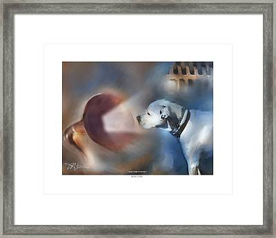 I Said Turn It Down . . . Framed Print by Bob Salo