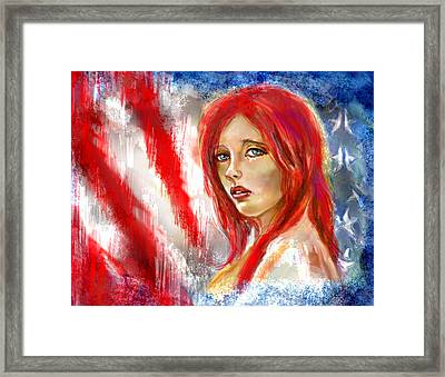 I Sing Of Thee Framed Print by Lakota Phillips