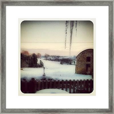 I Smell Winter Framed Print