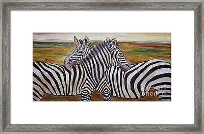 Framed Print featuring the painting I Think Its This Way by Julie Brugh Riffey
