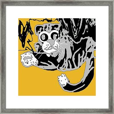 I Thought I Saw A Pssy Cat Framed Print by Jamie ian Smith