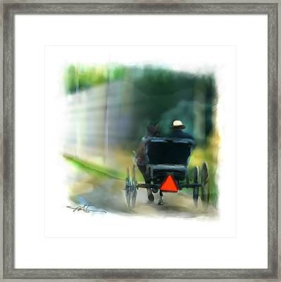 I Travel The Gravel  Framed Print