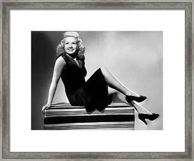 I Wake Up Screaming, Betty Grable, 1941 Framed Print by Everett
