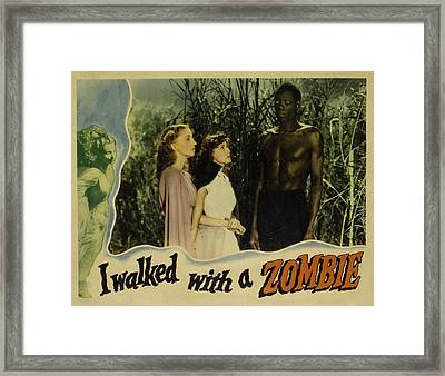 I Walked With A Zombie, From Left Framed Print