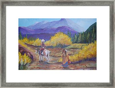 I Want To Go Home Framed Print by Janna Columbus