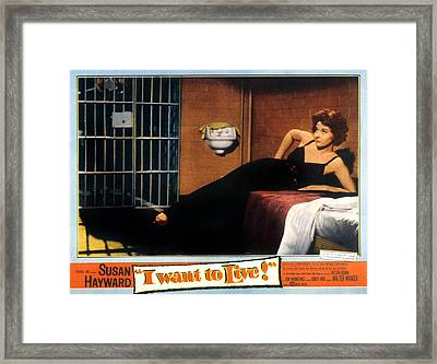 I Want To Live, Susan Hayward, 1958 Framed Print