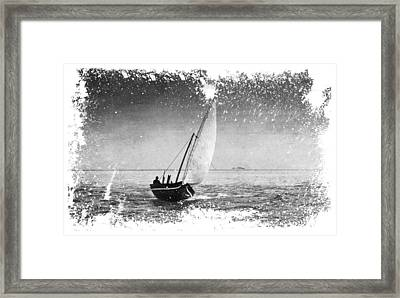 I Want To Ride On The Wind. Dhoni Boat. Maldives Framed Print by Jenny Rainbow