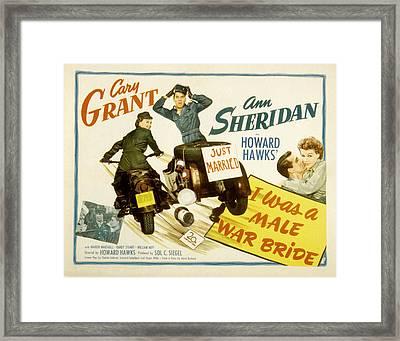 I Was A Male War Bride, Cary Grant, Ann Framed Print by Everett