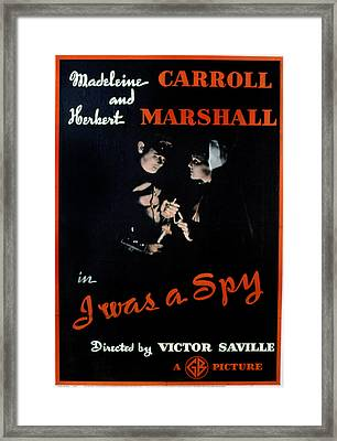 I Was A Spy, Herbert Marshall Framed Print by Everett