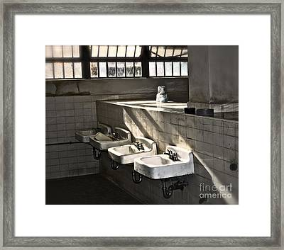 I Wash My Hands Framed Print by Gwyn Newcombe