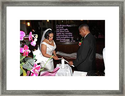 I Will Love Thee Framed Print by Terry Wallace