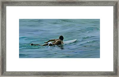 I Wish They All Could Be California Girls Framed Print by Joan Longas