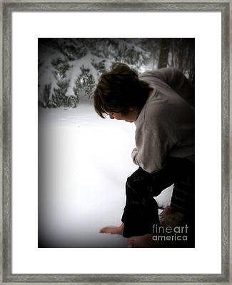 Framed Print featuring the photograph I Wonder . . . . . by Nancy Dole McGuigan