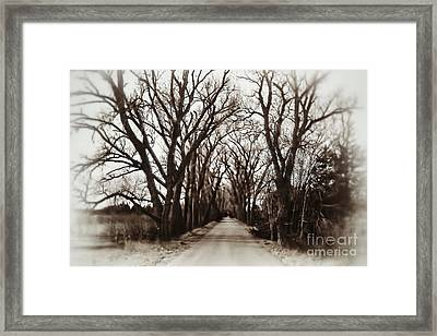 I Wouldn't Go Down There Framed Print by Jeremy Linot