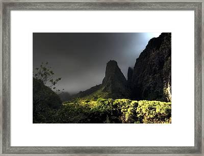 Iao Mountains Framed Print