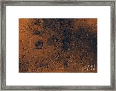 Iapygia Region Of Mars Framed Print by Stocktrek Images