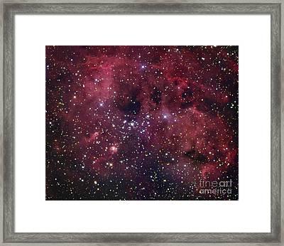Ic 410 Emission Nebula In Auriga Framed Print