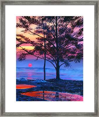 Ice Blue Lake Framed Print by David Lloyd Glover