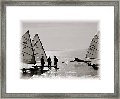 Ice Boats Framed Print