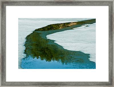 Ice Borders Framed Print by Colleen Coccia