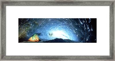 Ice Cave, Appa Glacier, Pemberton Ice Framed Print