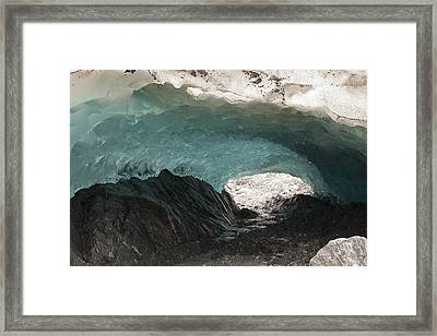 Ice Cave In Mendenhall Glacier, Tongass Framed Print by Matthias Breiter