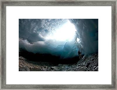 Ice Cave, Switzerland Framed Print