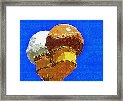 Ice Cream Cone - Double Scoop Framed Print by Steve Ohlsen