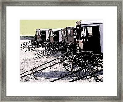 Ice Cream Day In New Holland Framed Print by Maxine Bochnia