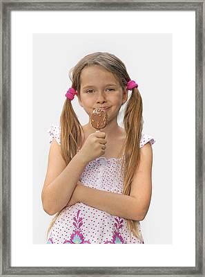 Ice Cream Framed Print by Joana Kruse