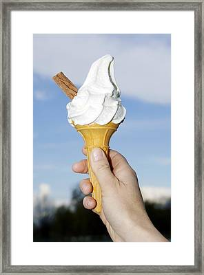 Ice Cream Framed Print by Johnny Greig