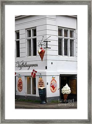 Ice Cream Shop Framed Print by Sophie Vigneault
