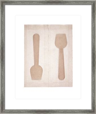 Ice Cream Spoons In Packets Framed Print