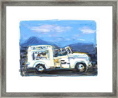 Ice Cream Truck Framed Print by Russell Pierce