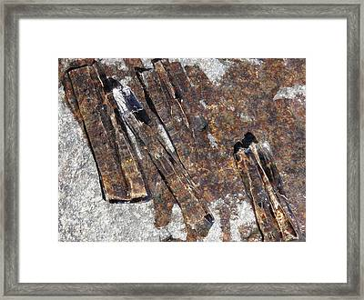 Ice Crystals 2 Framed Print