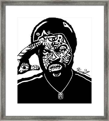 Ice Cube By Kamoni-khem Framed Print by Kamoni Khem