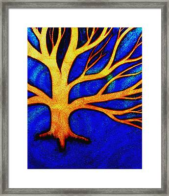 Framed Print featuring the painting Ice-distorted by Monica Furlow