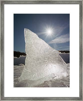 Ice Formation Along The Bow River Framed Print by Darwin Wiggett