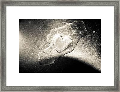Ice Heart Framed Print