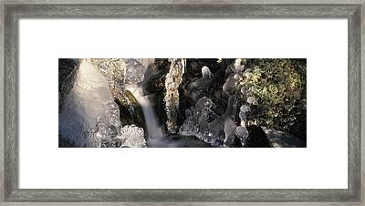 Ice Is Enrusting A Waterfall Framed Print by Ulrich Kunst And Bettina Scheidulin