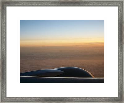 Ice Ocean And Sky Framed Print by Darcey James