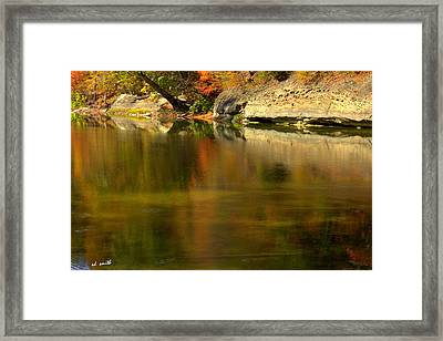 Ice Painting Framed Print by Ed Smith