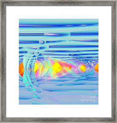 Ice Palace Sunrise Framed Print