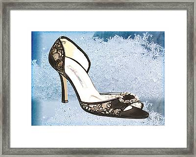 Ice Princess Lace Pumps Framed Print by Elaine Plesser